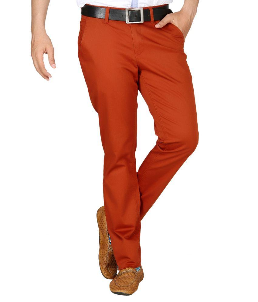 Jadeblue Red Slim Fit Chinos