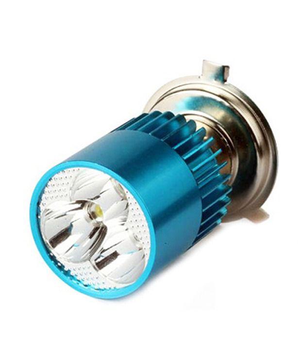 Speedwav Bike H4 3LED Bright Light Bulb White-Hero Splendor Pro