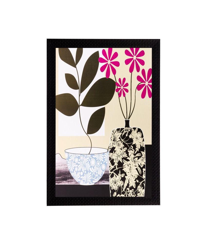 eCraftIndia Botanical Flower Matt Textured Framed UV Art Print