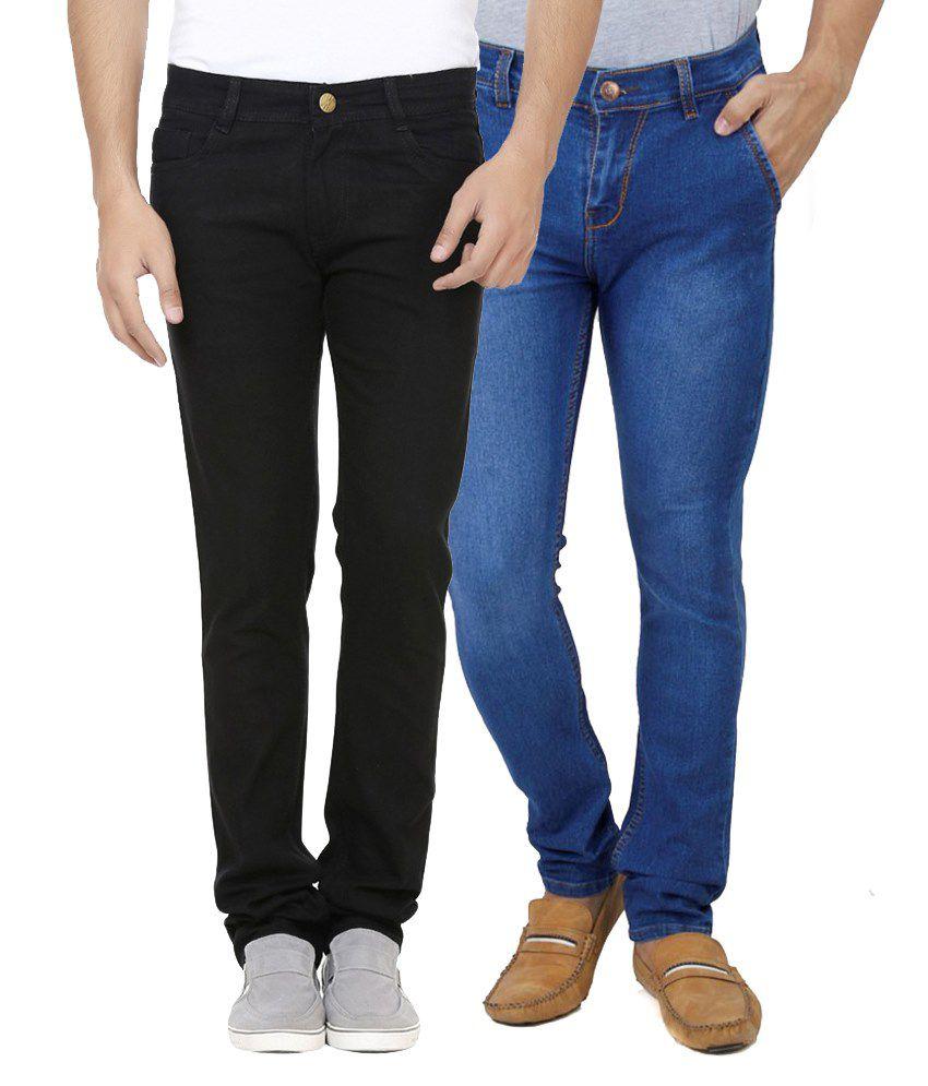 Ansh Fashion Wear Blue Regular Fit Faded Jeans