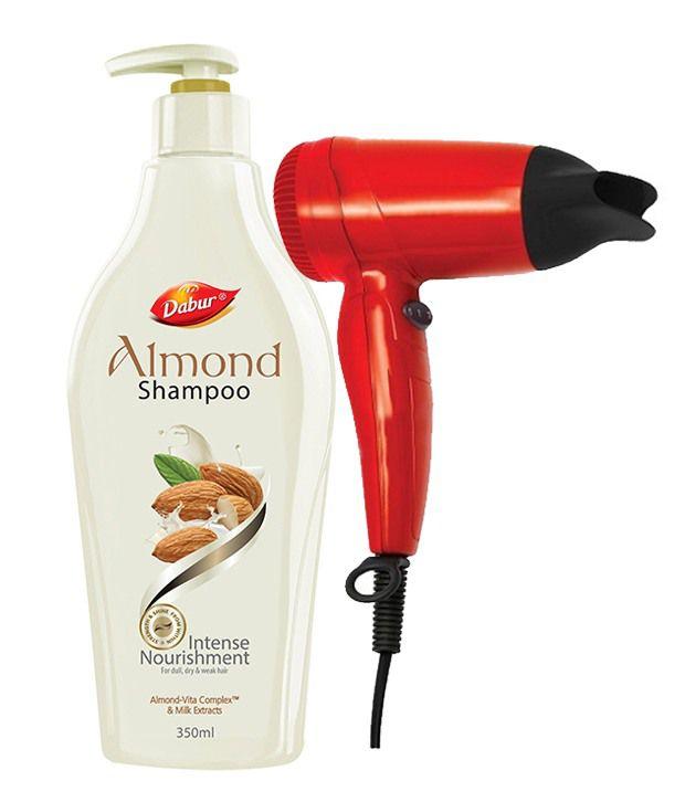Dabur Almond Shampoo 350 ml with Free Hair Dryer