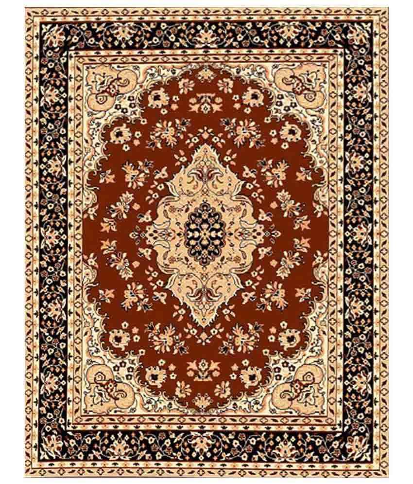 Furnishingland Multicolour Traditional Polyester Carpet 4x6 Ft.