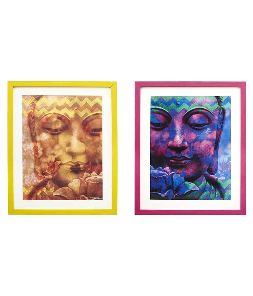 Look What Happened Textured Religious Paintings With Frame - Pack Of 2