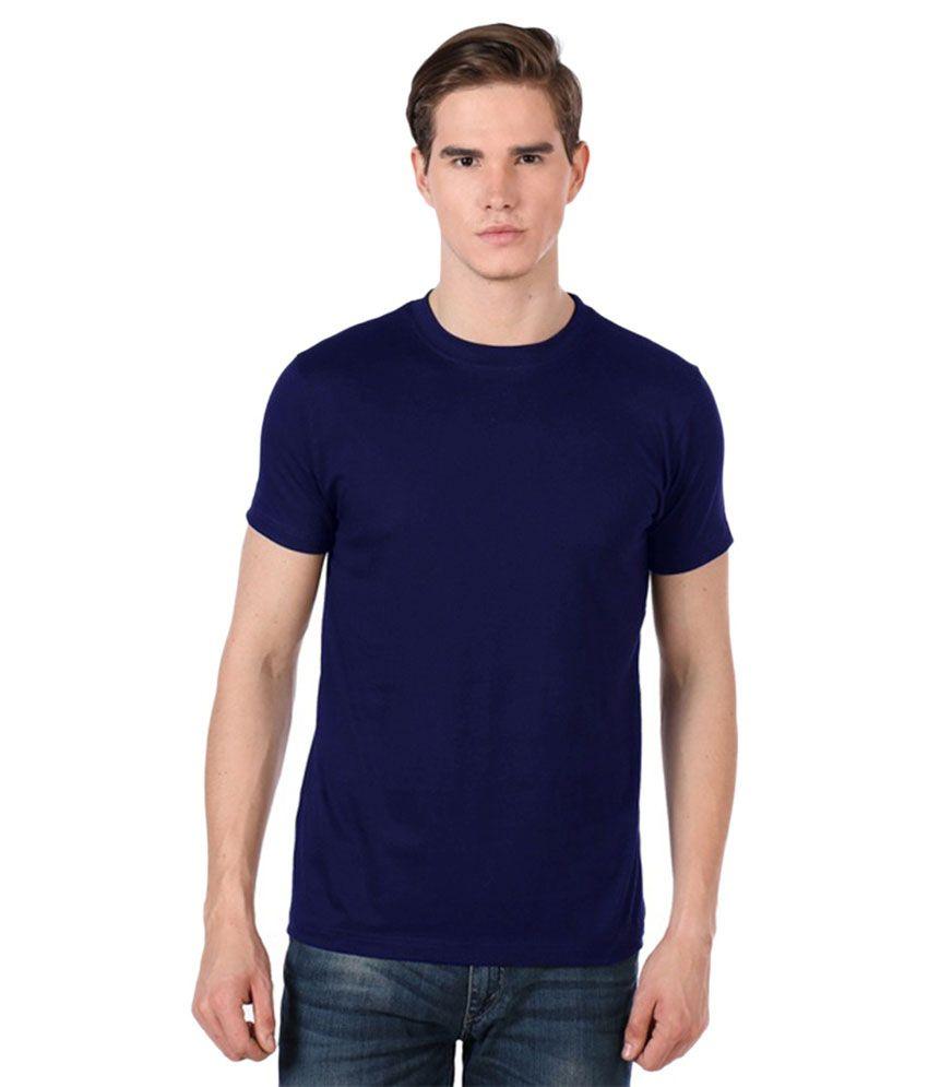 Avina Navy Round T Shirts