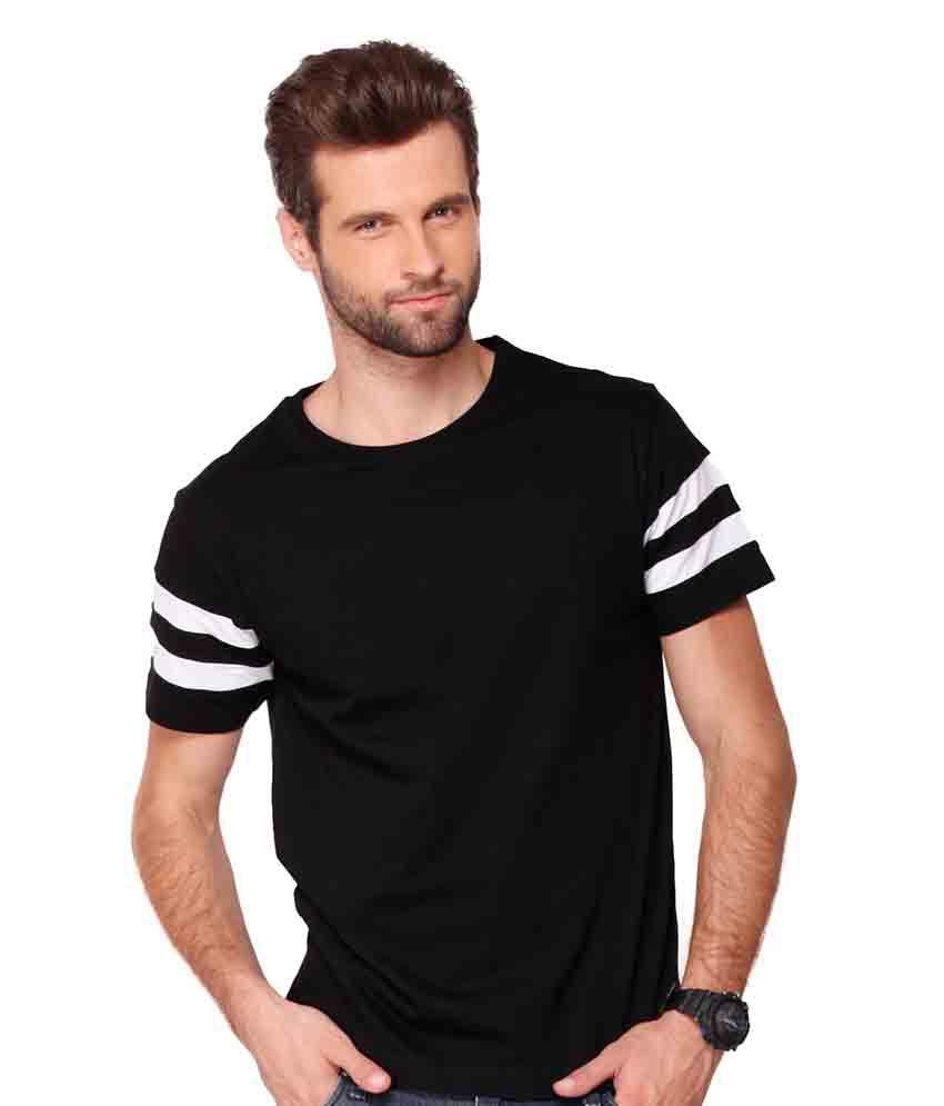 Bewakoof.com Black Round T Shirts