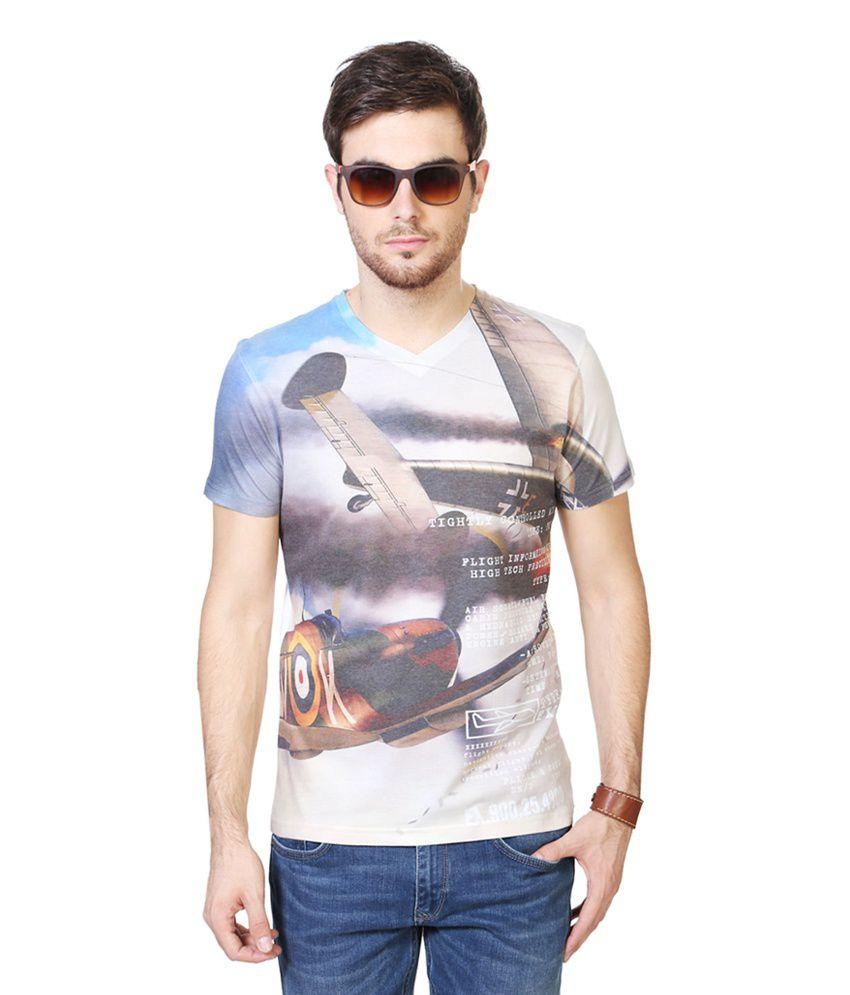 People White V-Neck T Shirts