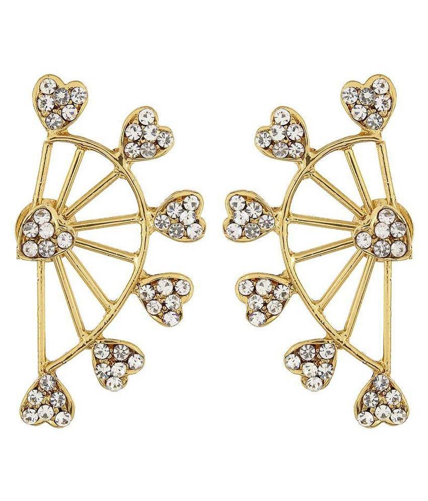 Shinningdiva Golden Alloy Ear Cuffs