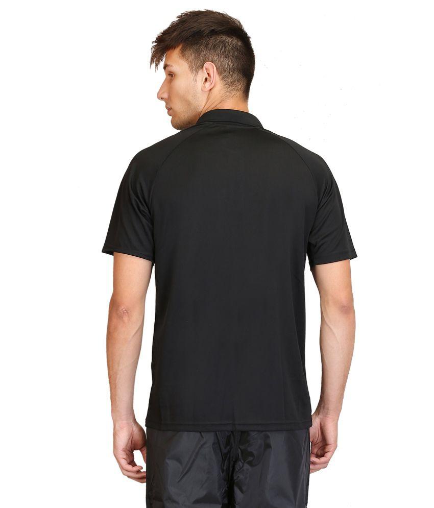 cheap>adidas black polo t shirt