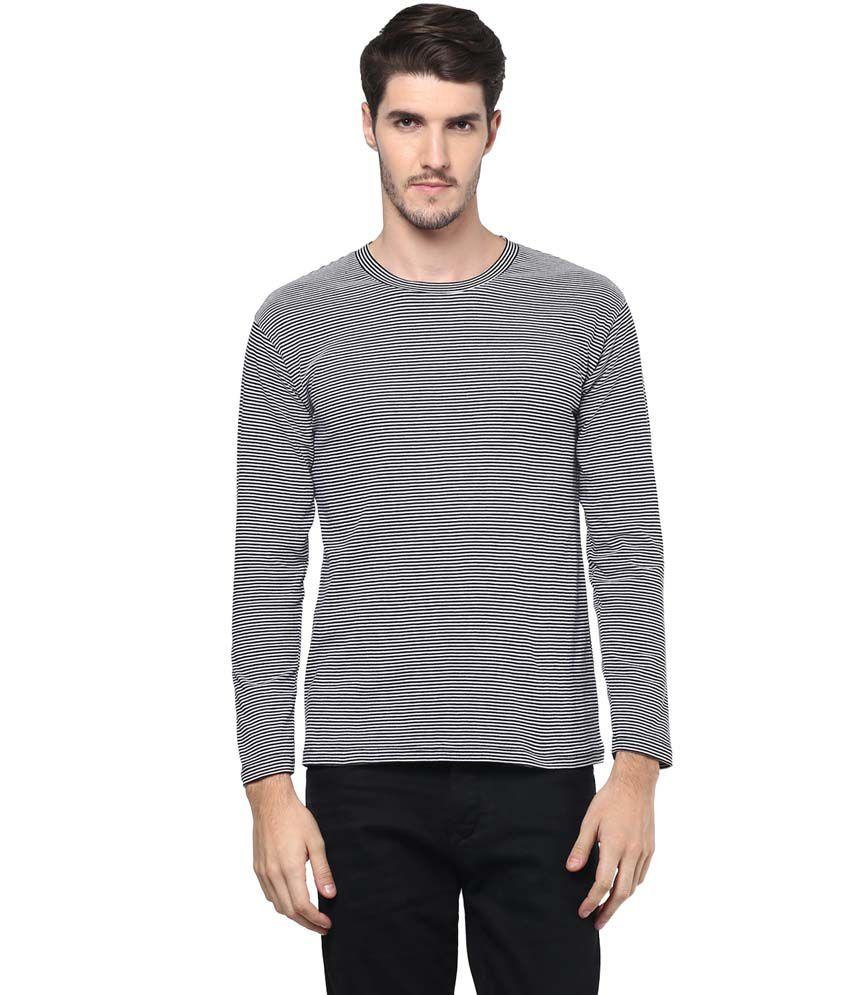 Hypernation Black Round T Shirts