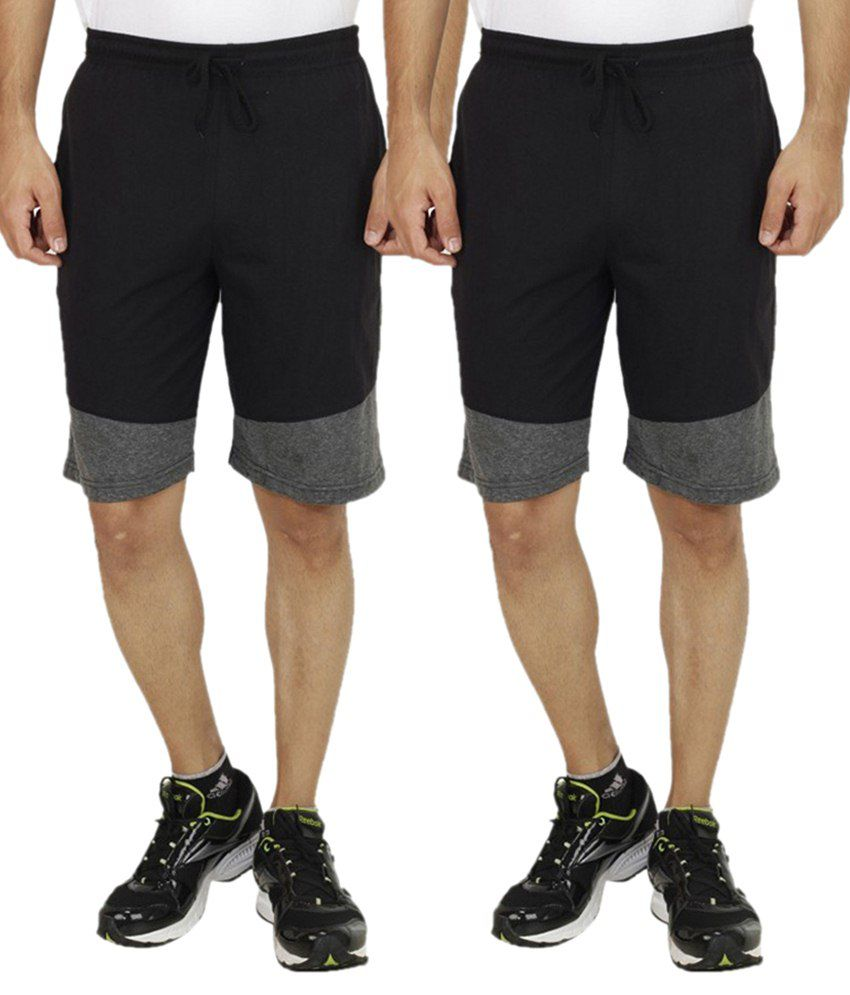 Christy's Collection Black Shorts Pack Of 2
