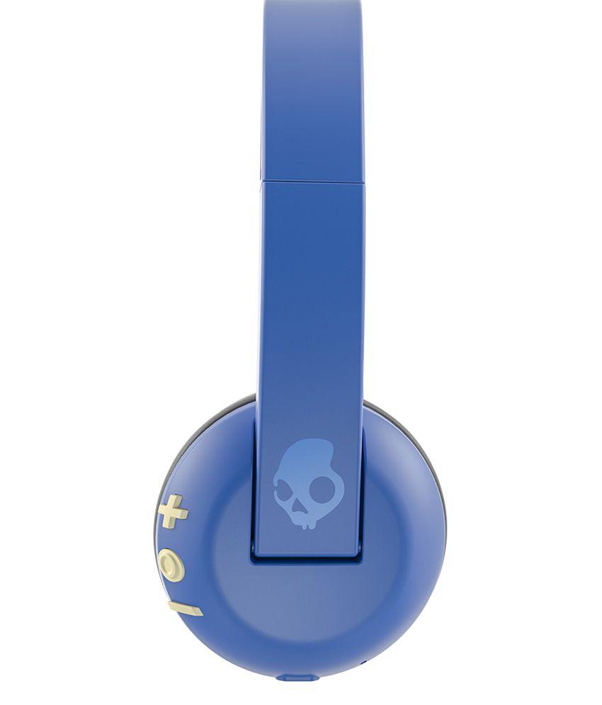 Skullcandy S5URJW-546 On Ear Wireless Headphone With Mic Blue - Buy ...
