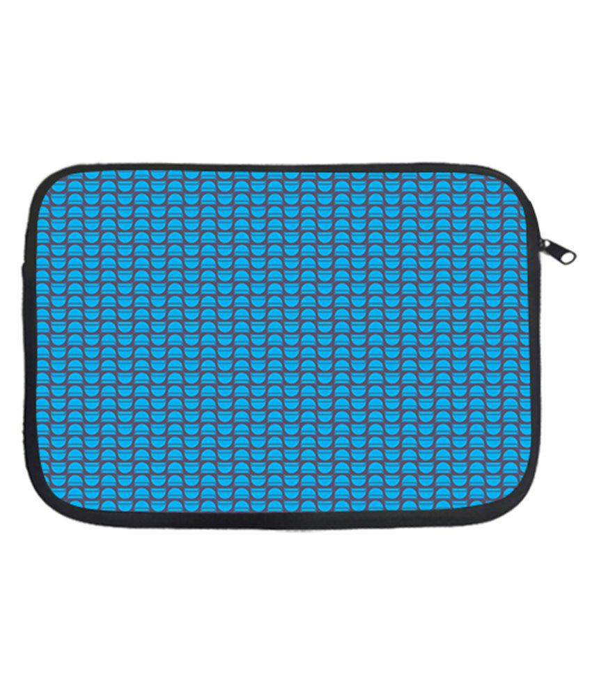 Via Flowers Polyester Laptop Sleeve Blue 13 Inch - Multicolor