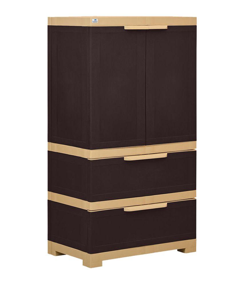 nilkamal freedom 2 door cabinet with 2 drawers brown buy nilkamal rh snapdeal com