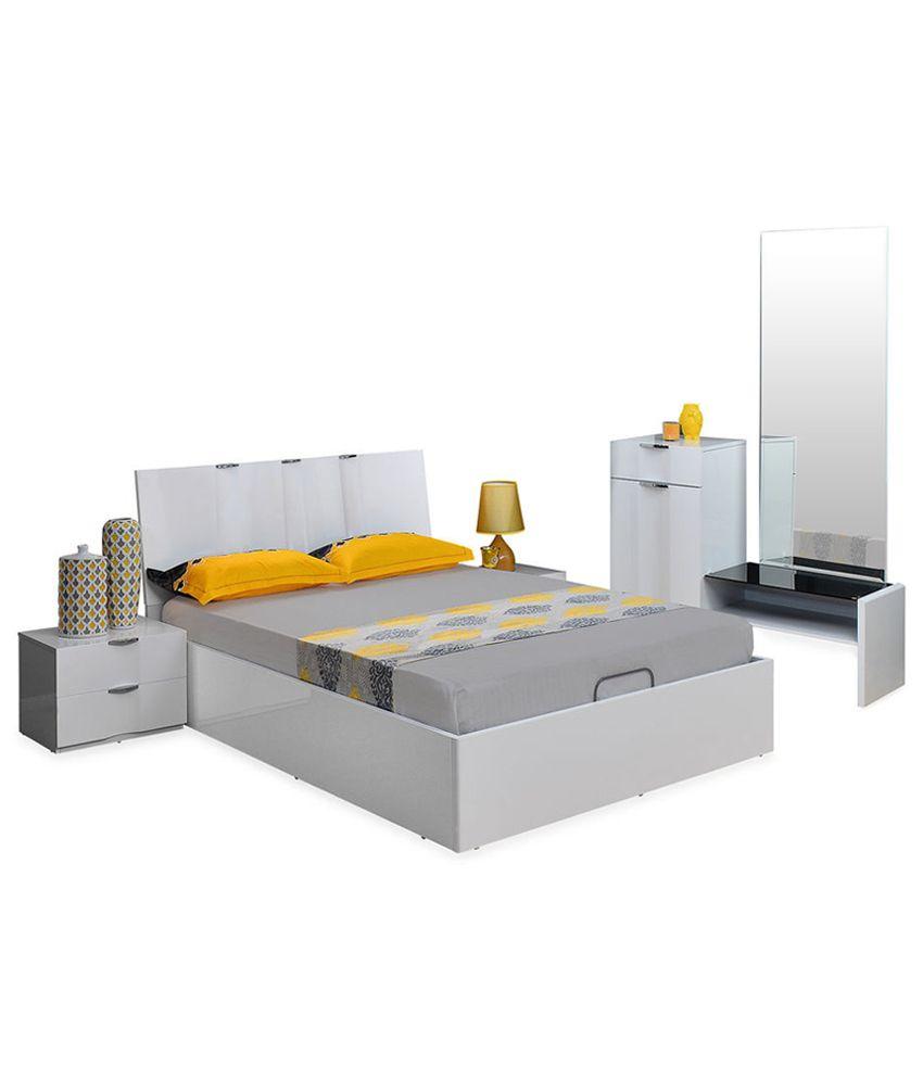 @home Scoop Solid Wood King Size Bedroom Set