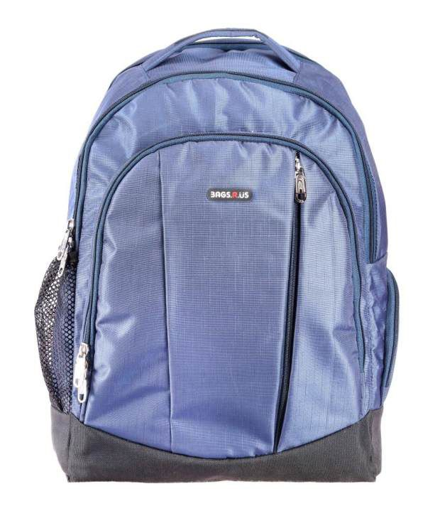 BagsRus Blue Polyester Laptop Backpack