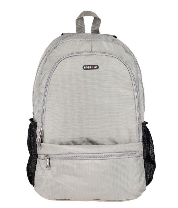 BagsRus Grey Polyester Laptop Backpack