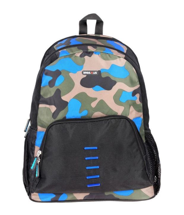 BagsRus Multicolor Polyester Laptop Backpack