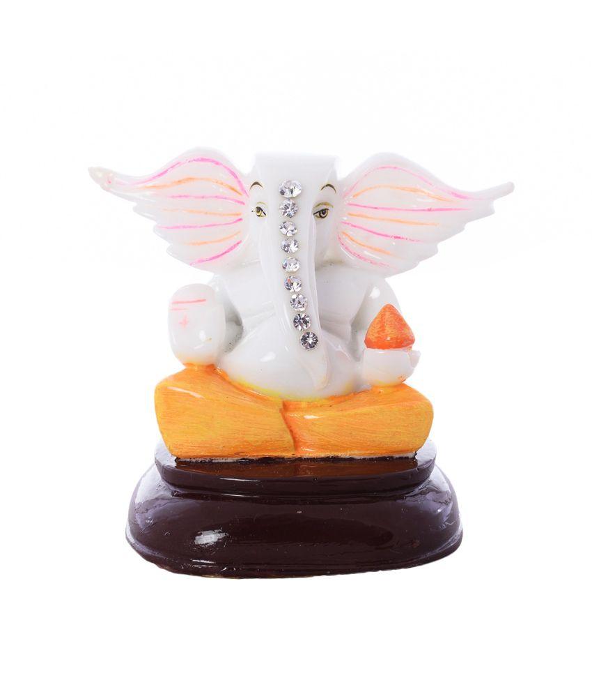 eCraftIndia Crystal Studded Divine Lord Ganesha Polyresin Figurine