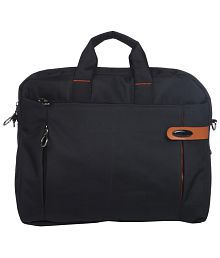 Bendly Black Polyester Laptop Bag