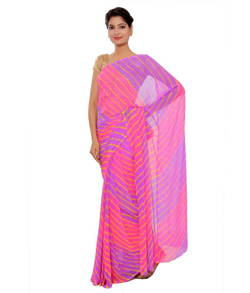 Sudha Fashion Shop Multi Color Georgette Saree