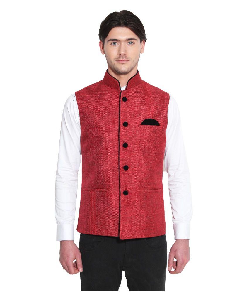 Favoroski Red festive Waistcoats