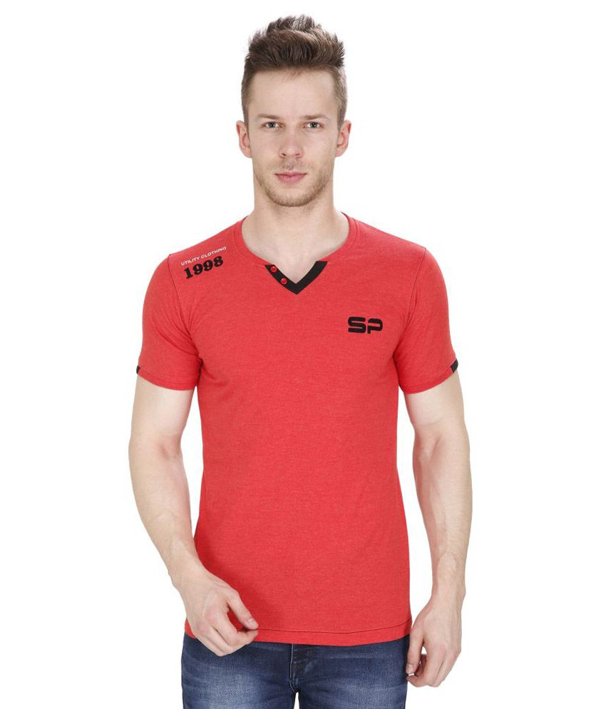 Sparky Red Round T Shirts