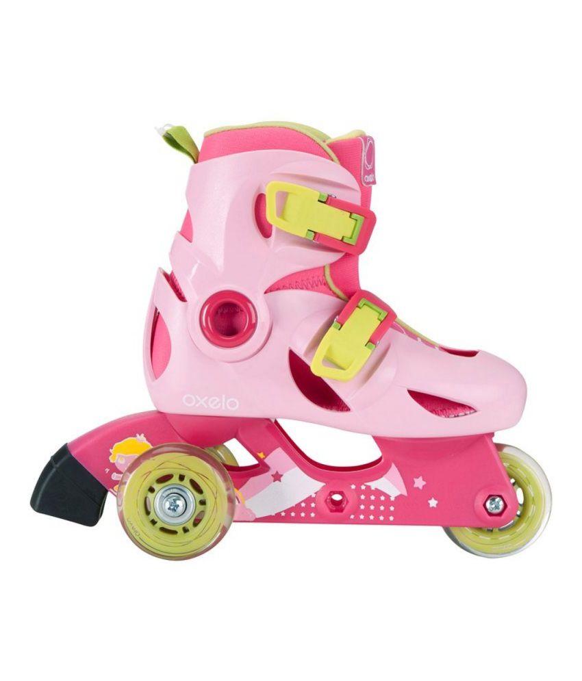 Roller skates for sale dubai -  Oxelo Inline Skates Play 3 Roller Skating Shoes By Decathlon