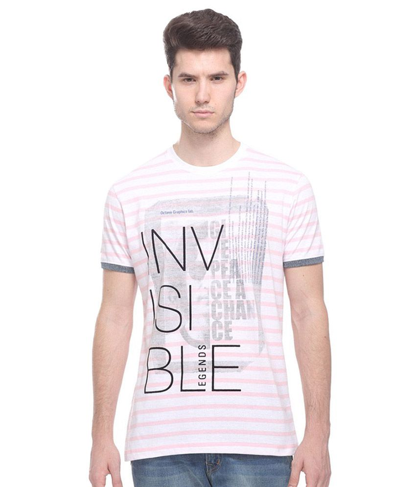 Octave Pink Round T Shirts