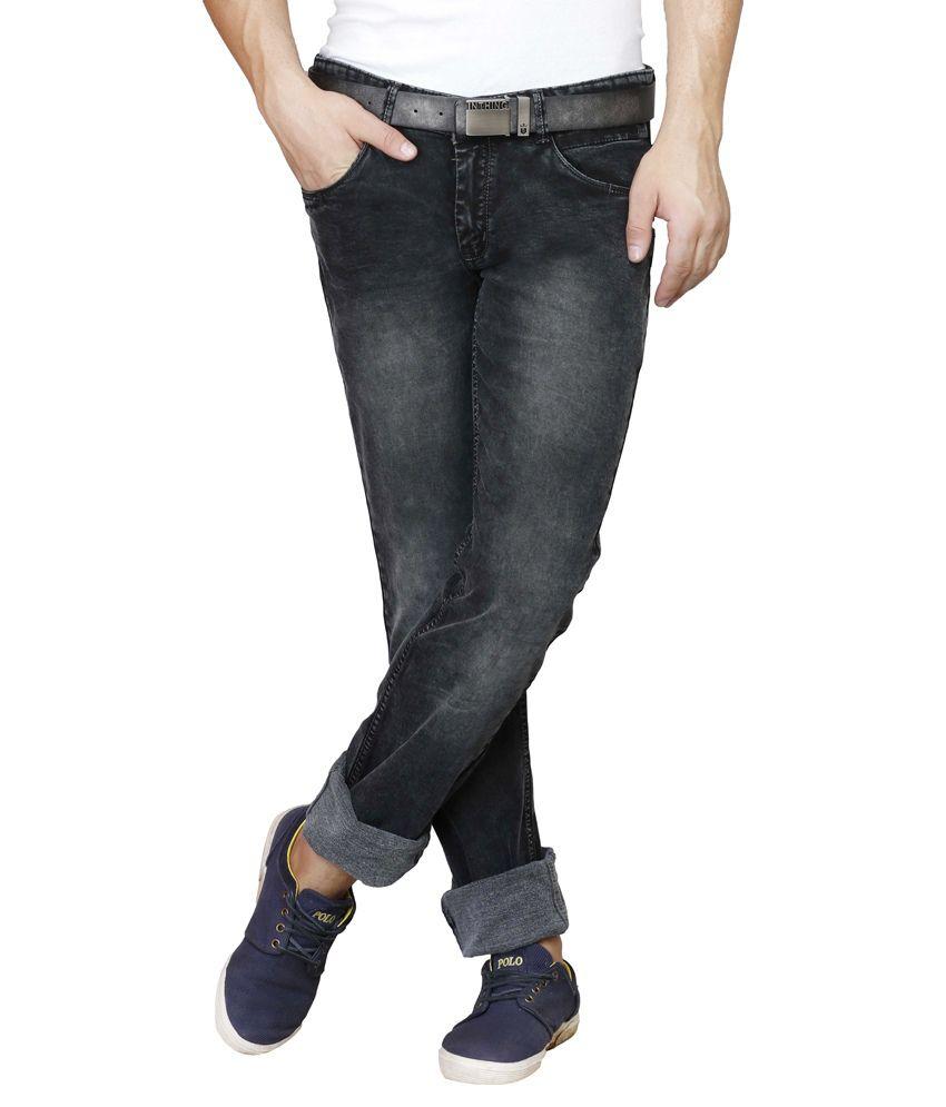 Showoff Black Slim Fit Jeans