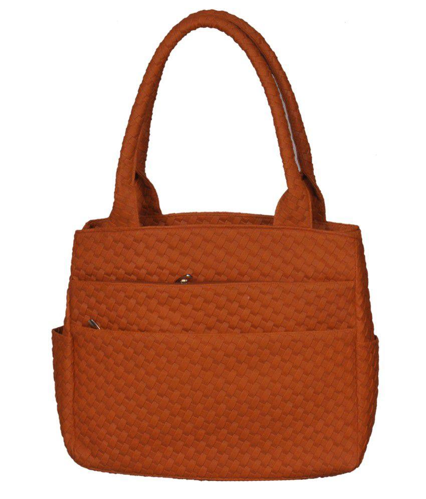 Speed Dot Orange Synthetic Shoulder Bag