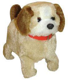 Zaprap Beige Plastic Jumping Dancing Musical Dog Toy