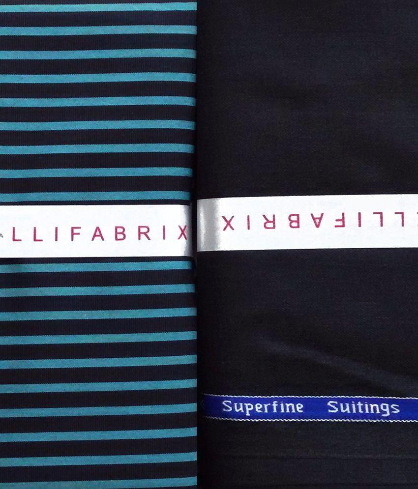 Arvind Multi 100 Percent Cotton Unstitched Shirts & Trousers Trouser & Shirt Combo