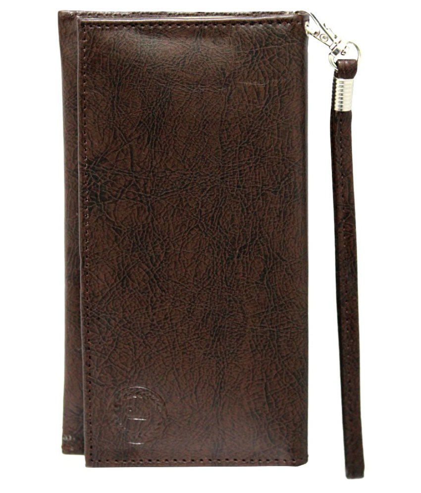 Jo Jo Pouch Cover For Asus Zenfone Go 5.0 - Brown