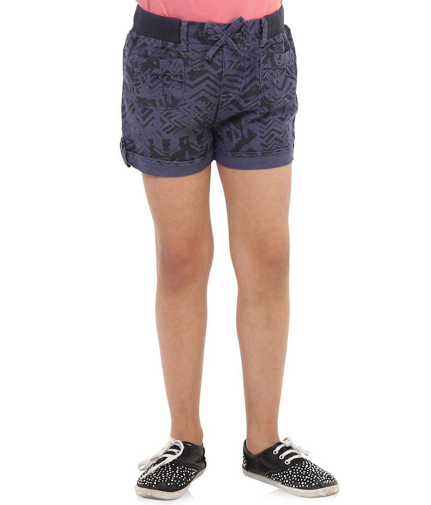 Oxolloxo Blue Viscose Shorts