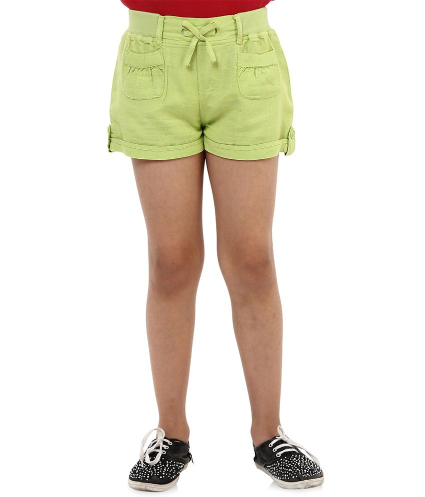 Oxolloxo Green Viscose Shorts