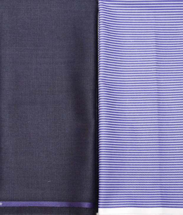 Gwalior Suitings Multi Poly Viscose Unstitched Shirts & Trousers Trouser & Shirt Combo