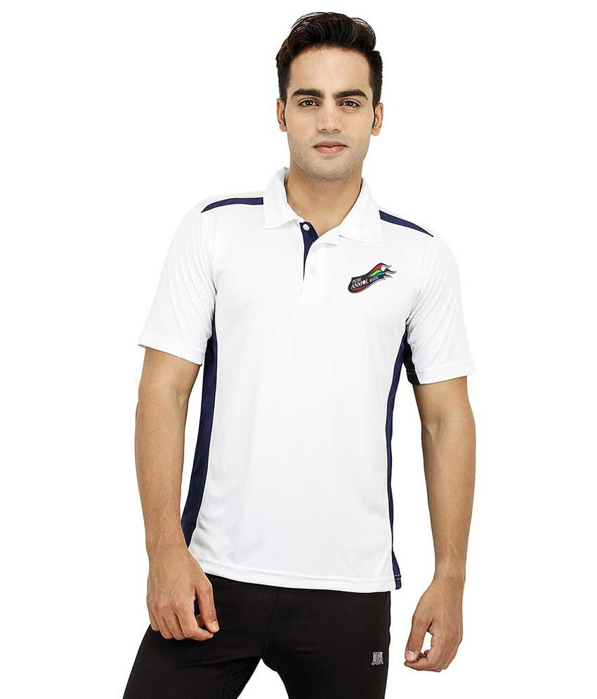 T10 Sports White V-Neck T-Shirt