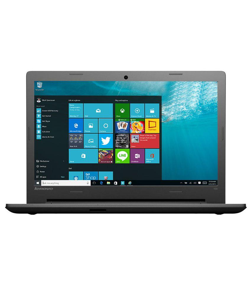 Lenovo Ideapad 100 Notebook (80RK002UIH) (5th Gen Intel Core i3- 4GB RAM- 500GB HDD- 35.56 cm(14)- Windows 10) (Black)