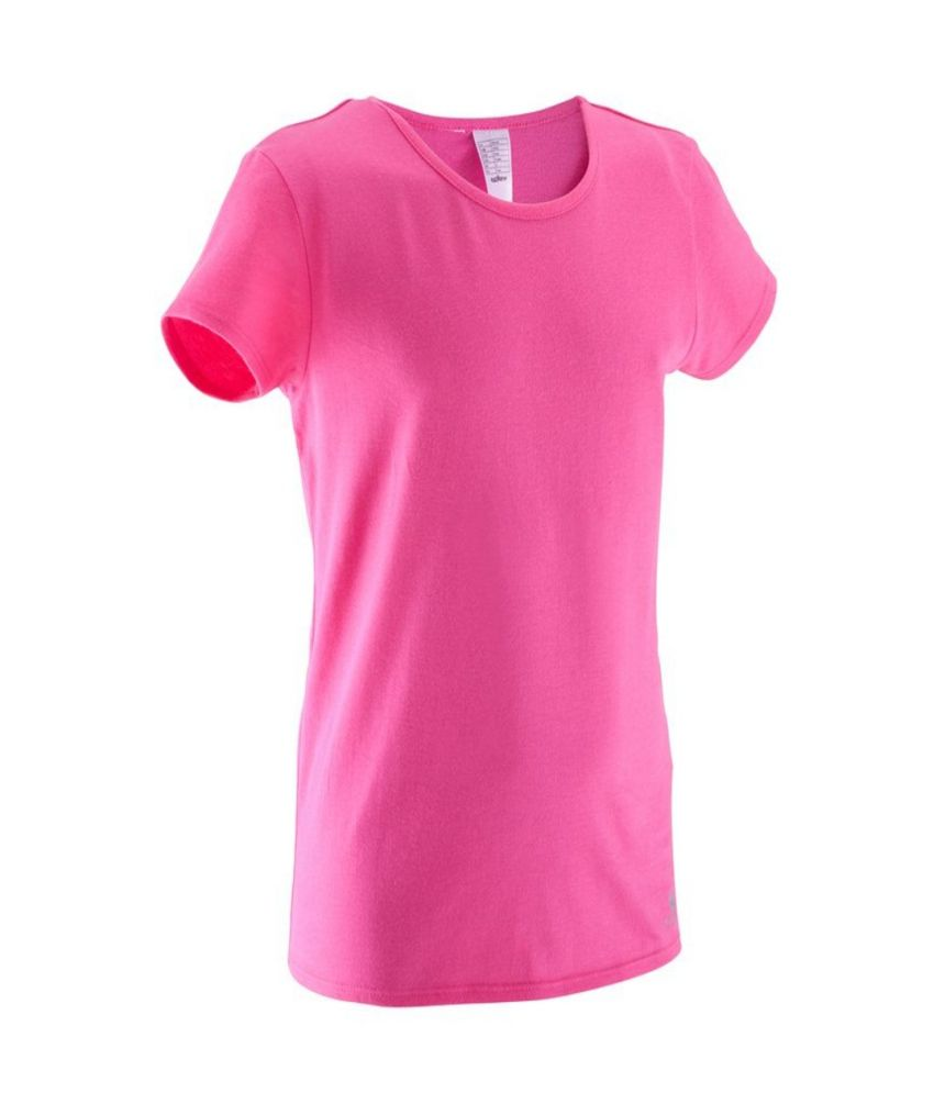 DOMYOS Comfort Girls Fitness T-Shirt By Decathlon
