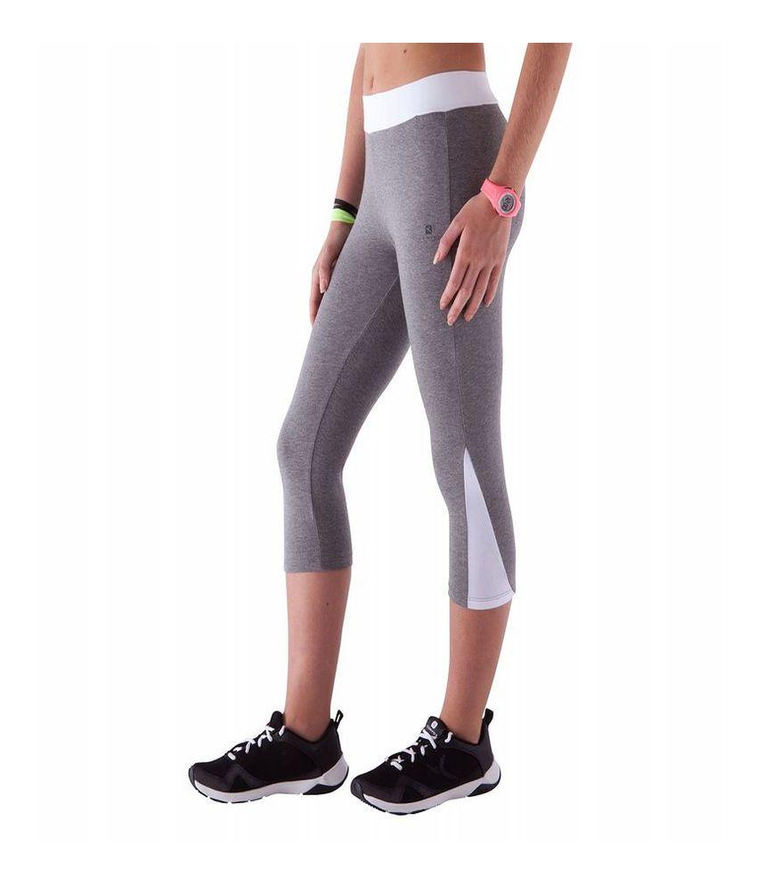 DOMYOS Comfort Plus Kids Fitness Cropped Leggings By Decathlon