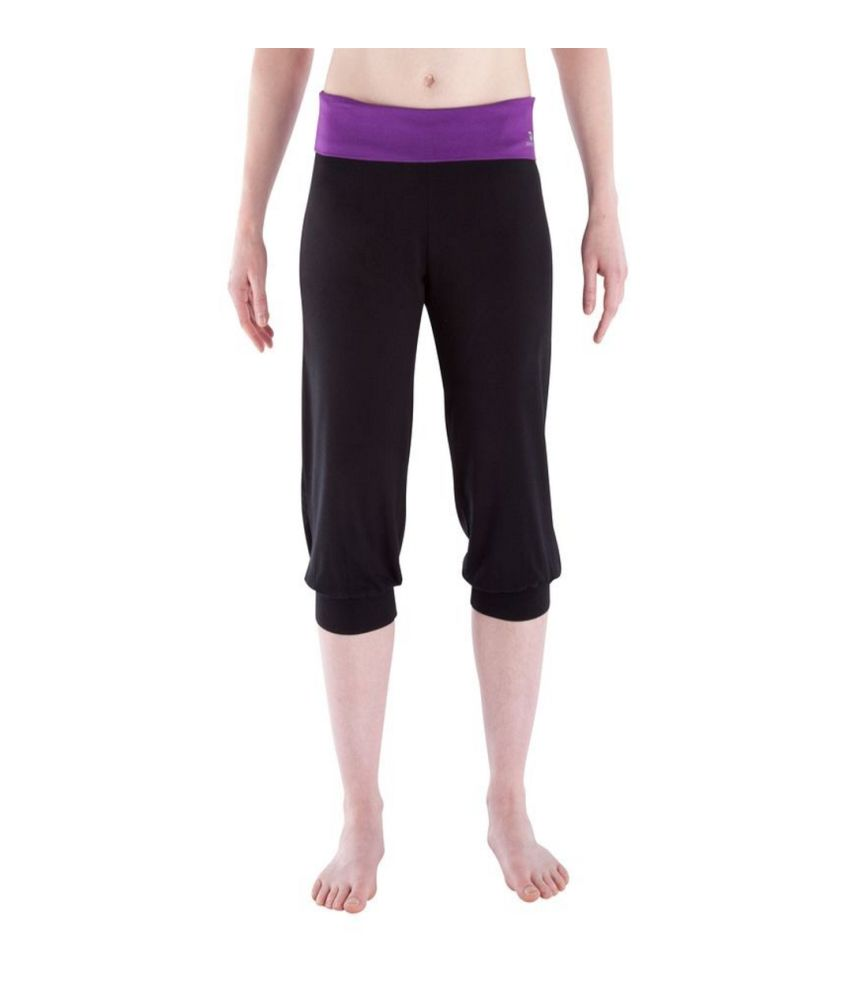 DOMYOS Crs yoga Organic Women's Yoga Cropped Leggings By Decathlon