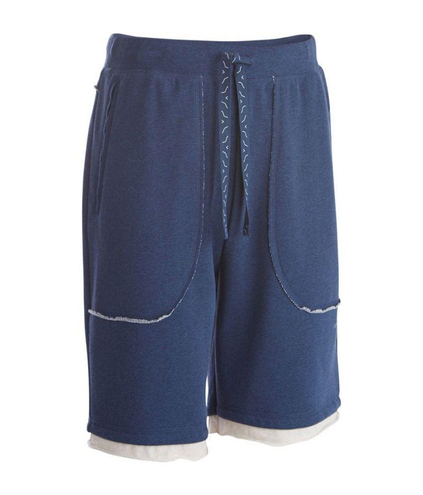 DOMYOS Ea Fleece Men's Yoga Shorts By Decathlon