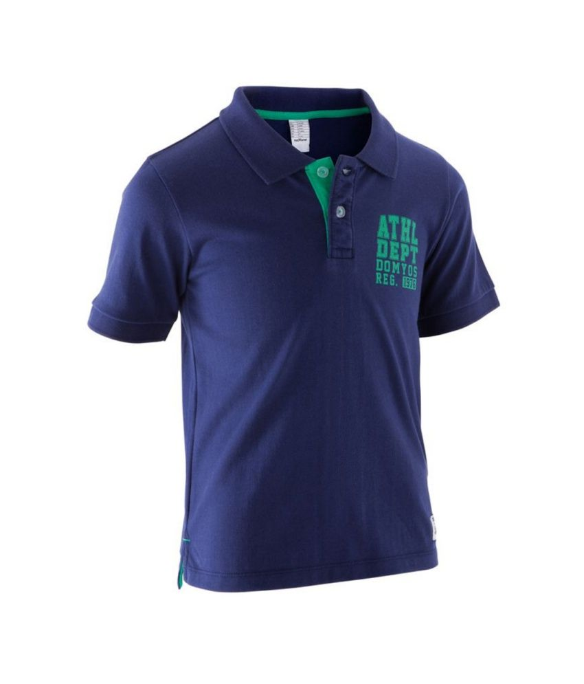 DOMYOS Polo Boys Fitness Short-Sleeved Polo Shirt By Decathlon