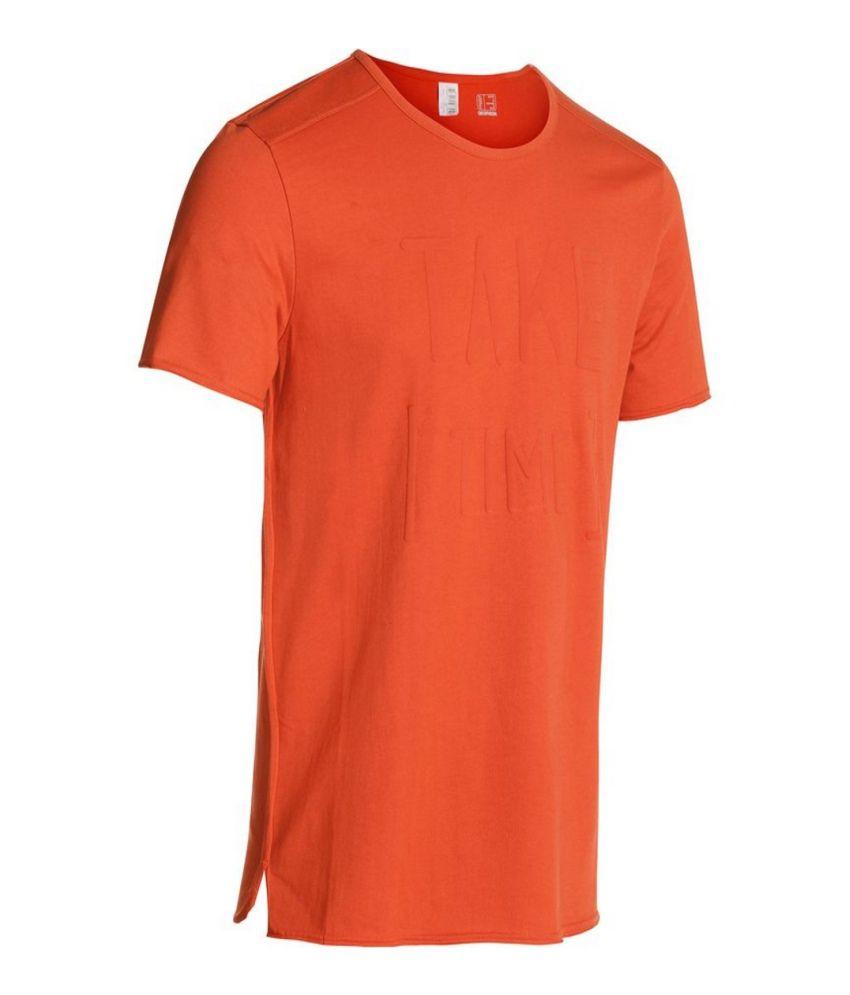 DOMYOS Y/P B&M Print Men's Yoga T-Shirt By Decathlon