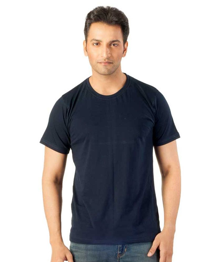 Vybing Navy Round T Shirts Pack of 2