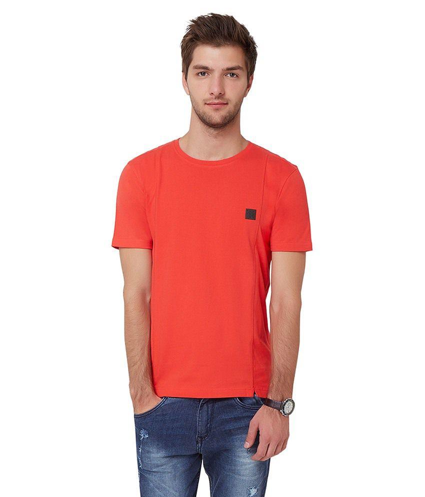 Elaborado Red Round T Shirts