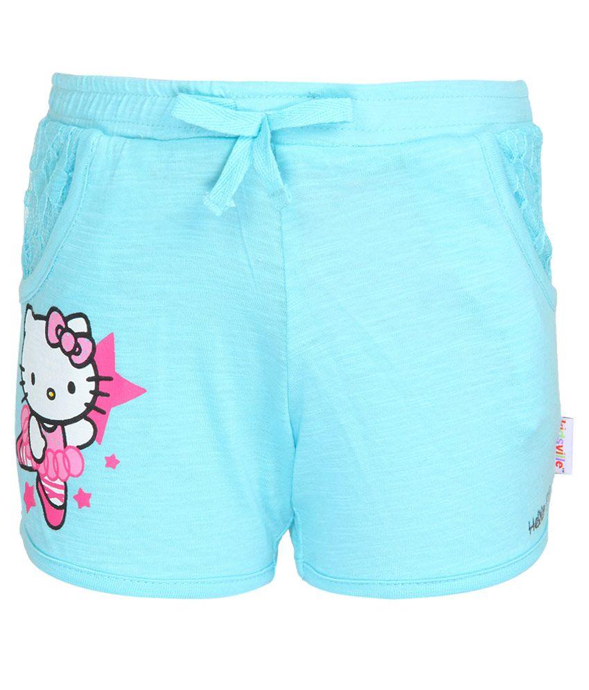 Hello Kitty Blue Printed Shorts
