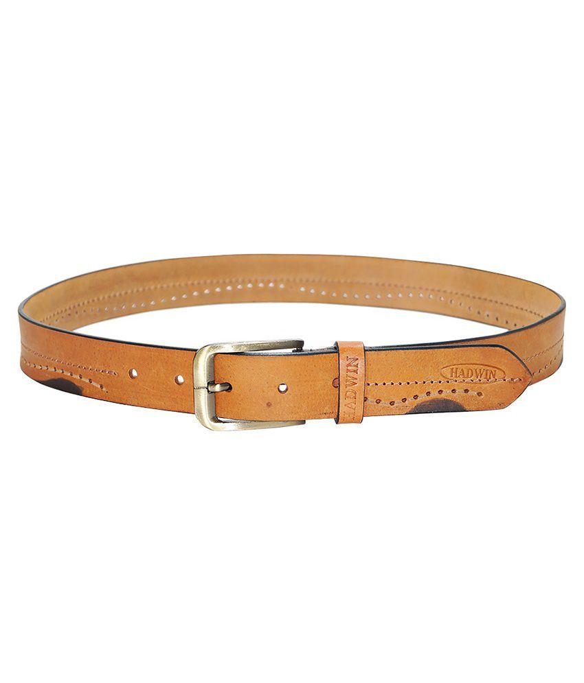 Hadwin Tan Leather Belt For Men