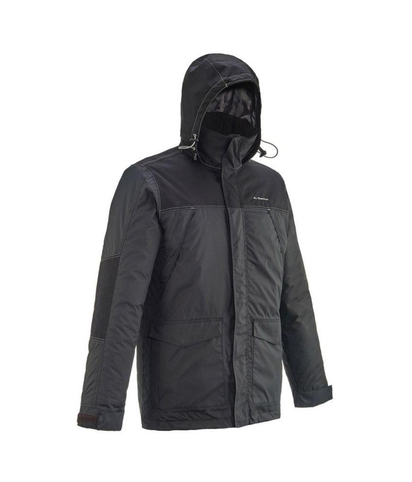 QUECHUA Arpenaz 200 Warm Rain Men's Waterproof Hiking Jacket By Decathlon