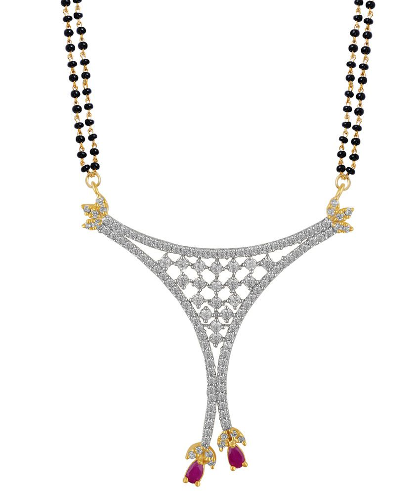 Snazzy Traditional Golden American Diamond Mangalsutra